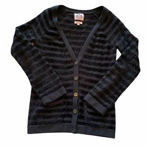 Juicy Couture black striped cardigan